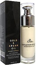 Kup PRZECENA! Odmładzający krem pod oczy - Sayaz Cosmetics Gold Particles and Argan Oil Revitalizing Eye Cream 24H *