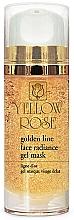 Kup Żelowa maska do twarzy z drobinkami złota - Yellow Rose Golden Line Face Radiance Gel Mask