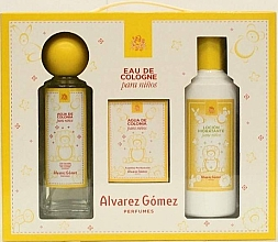 Alvarez Gomez Agua de Colonia Para Ninos - Zestaw (edc 175 ml + wipes 10 pc + b/lot 300 ml) — фото N2