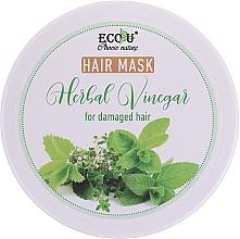 Kup Maska z octem ziołowym do włosów zniszczonych - Eco U Hair Mask Herbal Vinegar For Damaged Hair