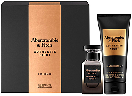 Kup Abercrombie & Fitch Authentic Night Man - Zestaw (edt 50 ml + hair/body/wash 200 ml)
