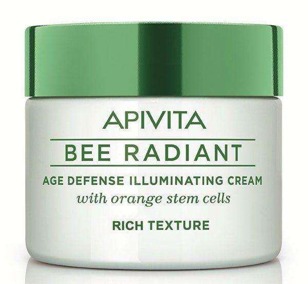 Bogaty krem rozświetlający do twarzy z komórkami macierzystymi pomarańczy - Apivita Bee Radiant Rich Cream — фото N1