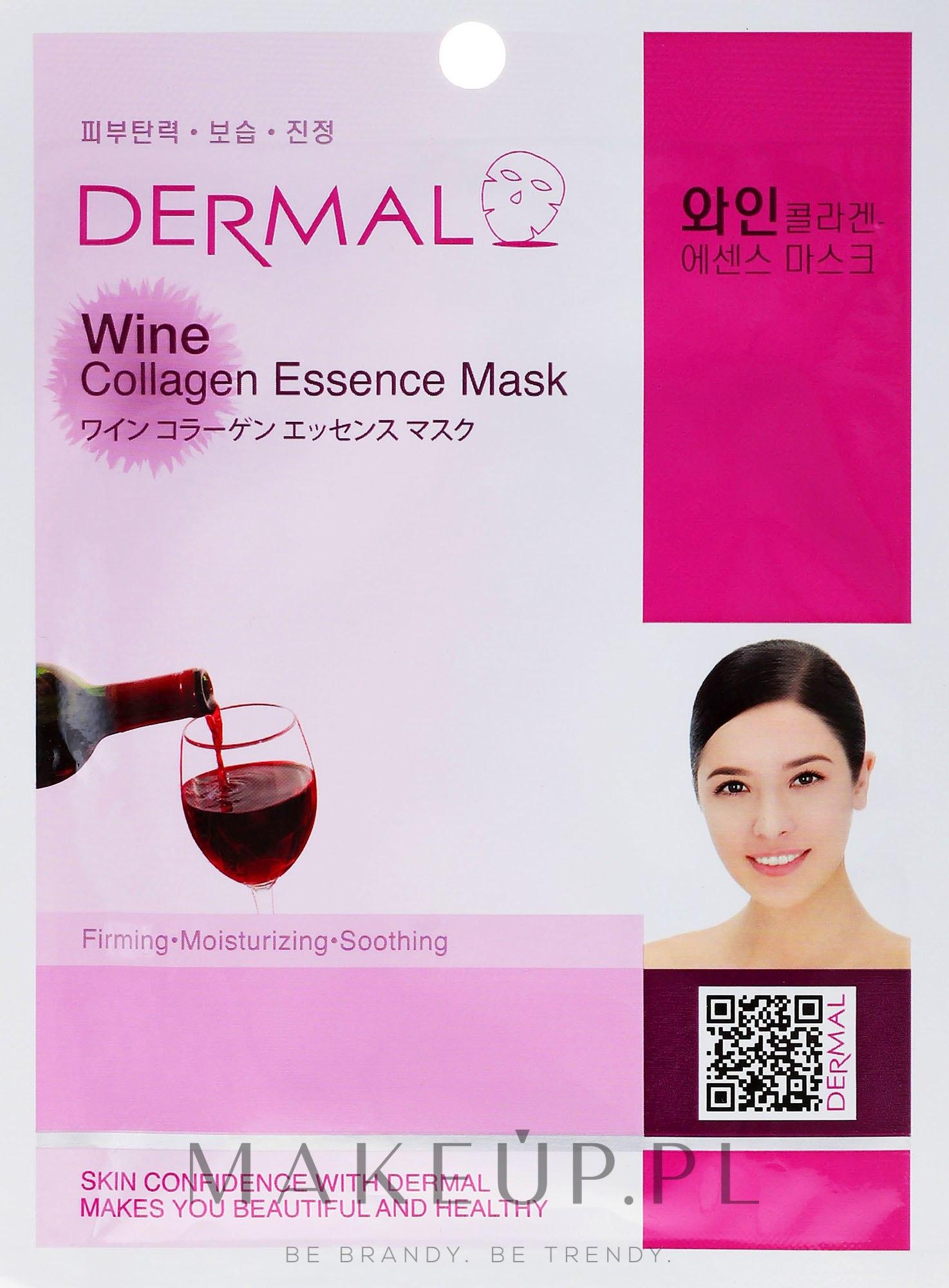 Kolagenowa esencjonalna maseczka w płachcie do twarzy Wino - Dermal Wine Collagen Essence Mask — фото 23 ml