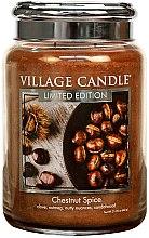 Kup Świeca zapachowa w słoiku - Village Candle Chestnut Spice Glass Jar