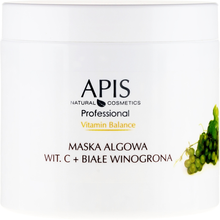 Maska algowa z witaminą C i białymi winogronami - APIS Professional Vitamin Balance