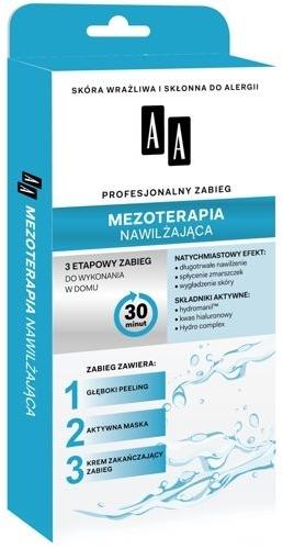 Mezoterapia nawilżająca 3-etapowe zabiegi - AA Profesjonalny zabieg