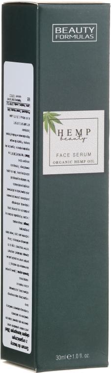 Lekkie serum do twarzy z organicznym olejem konopnym - Beauty Formulas Hemp Beauty Face Serum