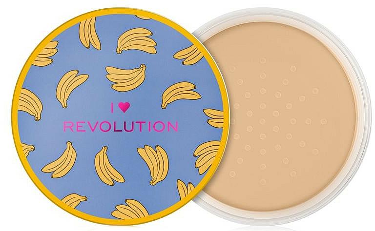 Sypki puder bananowy do twarzy - I Heart Revolution Loose Baking Powder Banana — фото N2