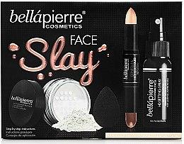 Kup Zestaw do makijażu - Bellapierre Face Slay Kit Fair/Medium (stick/8.6g+powder/6.5g+spray/70ml+sponge/1pcs)