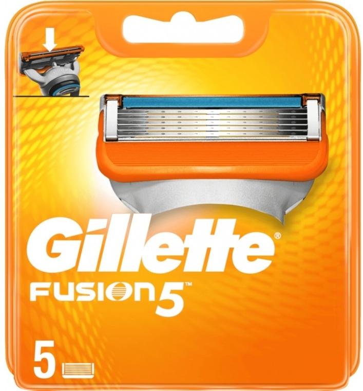 Wymienne wkłady do maszynki, 5 szt. - Gillette Fusion 5 — фото N1