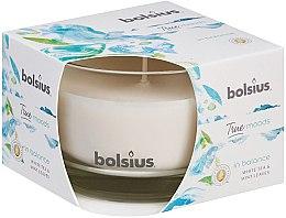 Kup Świeca zapachowa w szkle Biała herbata i liście mięty, 63/90 mm - Bolsius True Moods Candle