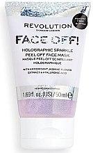 Kup Maseczka peelingująca do twarzy - Revolution Skincare Face Off! Holographic Sparkle Peel Off Face Mask