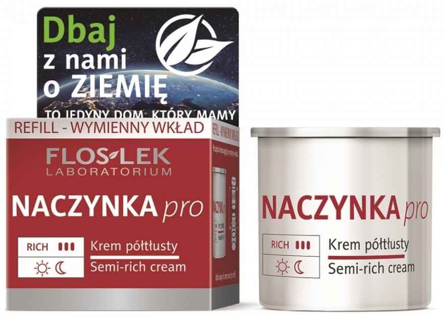Półtłusty krem do twarzy Naczynka Pro - Floslek Dilated Capillaries Semi-Rich Cream Refill (wymienny wkład)