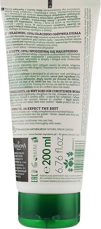 Odżywka do włosów wypadających Czarna rzepa - Farmona Herbal Care — фото N2