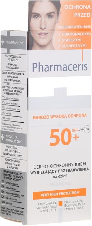 Krem wybielający przebarwienia na dzień SPF 50+ - Pharmaceris W Whitening Dermo-Protective Day Cream