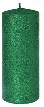 Kup Świeca dekoracyjna, zielona, 7 x 18 cm - Artman Glamour