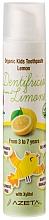 Kup Pasta do zębów dla dzieci 3-7 lat, Cytryna - Azeta Bio Organic Kids Toothpaste Lemon