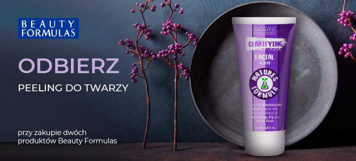 Przy zakupie dwóch produktów Beauty Formulas, oczyszczający peeling do twarzy otrzymasz w prezencie.