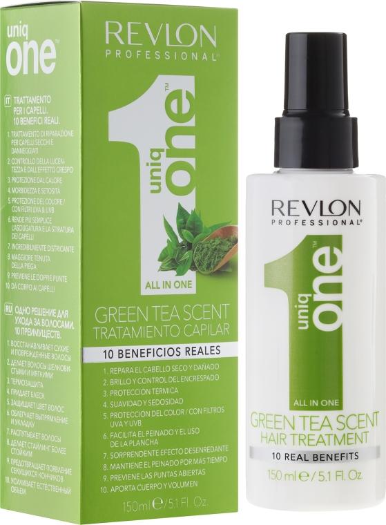Kuracja do włosów w sprayu Zielona herbata - Revlon Professional Uniq One Green Tea Scent Hair Treatment