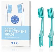 Kup Wymienne końcówki do szczoteczki do zębów, średnia twardość, turkusowe - TIO Toothbrush Medium