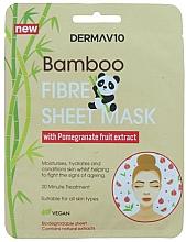 Kup Maseczka do twarzy z włókna bambusowego z granatem - Derma V10