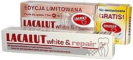 Kup Zestaw - Lacalut White & Repair Set (t/paste 75ml + dental/floss)