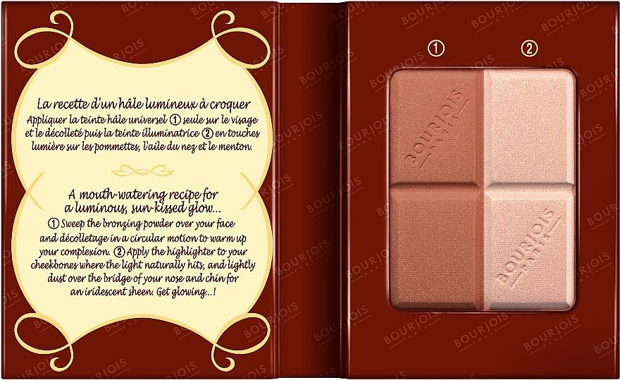 Puder do twarzy (w kompakcie) - Bourjois Delice De Poudre Bronzing Duo Powder + Highlighter — фото N3