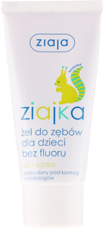 Żel bez fluoru do mycia zębów dla dzieci - Ziaja Ziajka