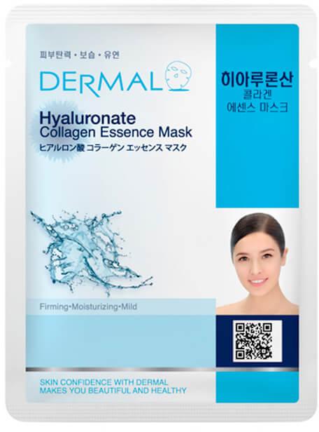 Kolagenowa esencjonalna maseczka w płachcie do twarzy Kwas hialuronowy - Dermal Hyaluronate Collagen Essence Mask — фото N1