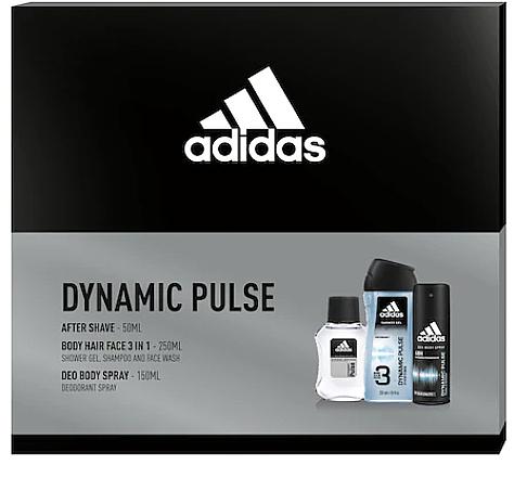 Adidas Dynamic Pulse - Zestaw (a/sh 50 ml + sh/gel 250 ml + deo/spray 150 ml) — фото N1
