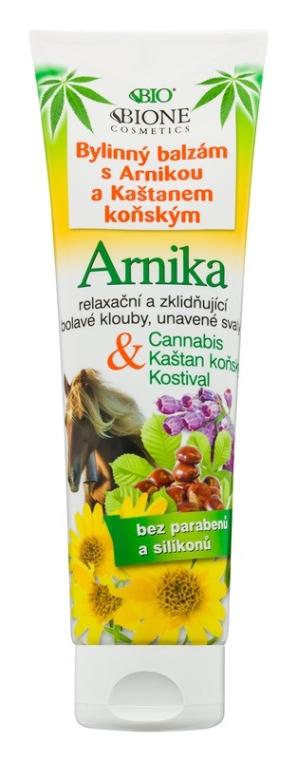 Ziołowy balsam do stóp z arniką i kasztanowcem - Bione Cosmetics Cannabis Arnika Herbal Ointment With Horse Chestnut — фото N1