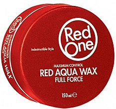 Kup Wosk do włosów na bazie wody - Red One Aqua Hair Gel Wax Full Force Red