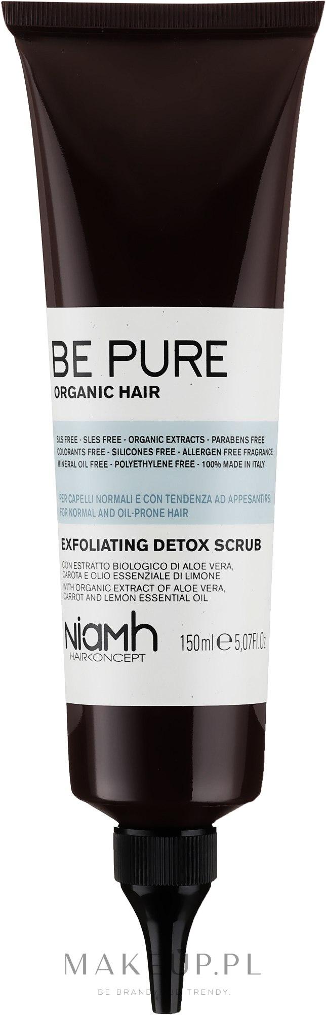 Detoksykujący peeling do skóry głowy - Niamh Hairconcept Be Pure Exfoliating Detox Scrub — фото 150 ml