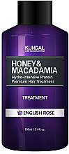 Kup Intensywnie nawilżająca kuracja proteinowa do włosów Angielska róża - Kundal Honey & Macadamia Treatment English Rose
