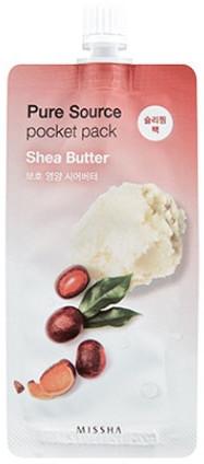 Odżywcza maseczka na noc z masłem shea - Missha Pure Source Pocket Pack Shea Butter