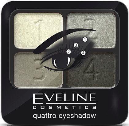 Poczwórne cienie do powiek - Eveline Cosmetics Quattro Eye Shadow