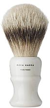 Kup Pędzel do golenia - Acca Kappa Shaving Brush Pure Silver Badger