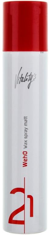 Długotrwały wosk w sprayu - Vitality's We-Ho Wax Spray Matt — фото N1
