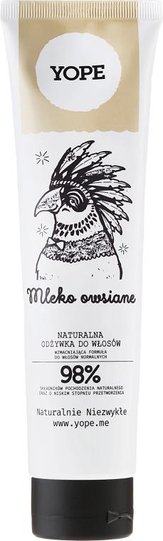 Naturalna odżywka do włosów normalnych - Yope Mleko owsiane