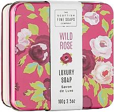 Kup Mydło z dziką różą w metalowej puszcze - Scottish Fine Wild Rose Soap In A Tin