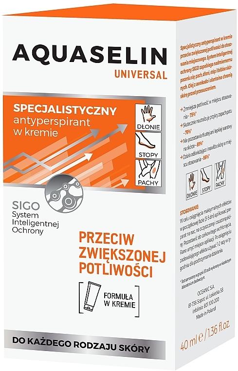 Specjalistyczny antyperspirant w kremie - Aquaselin Universal — фото N2