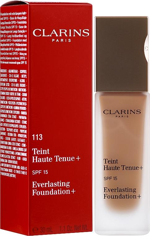 Podkład o przedłużonej trwałości do twarzy - Clarins Everlasting Foundation+ SPF 15