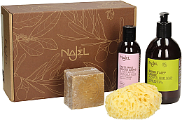 Kup Zestaw - Najel (liquid/soap 500 ml + soap 200 g + sponge + water 200 ml)