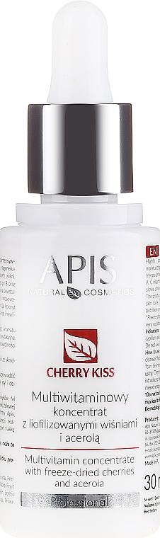 Multiwitaminowy koncentrat z liofilizowanymi wiśniami i acerolą - APIS Professional Cheery Kiss