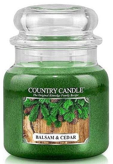 Świeca zapachowa w słoiku - Country Candle Balsam & Cedar — фото N1