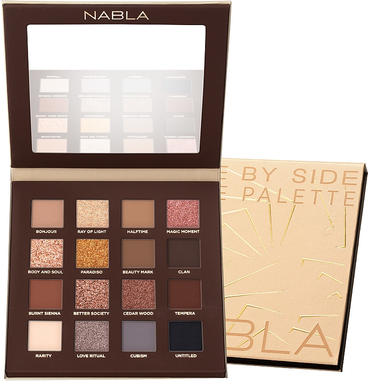 Paleta cieni do powiek - Nabla Side By Side Nude Palette