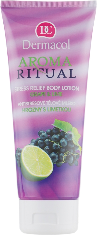 Relaksujący lotion do ciała Winogrono i limonka - Dermacol Body Aroma Ritual Stress Relief Body Milk — фото N1
