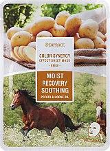 Kup Nawilżająca maska kojąco-wygładzająca na tkaninie do twarzy Ziemniak i koński tłuszcz - Deoproce Color Synergy Effect Sheet Mask Beige