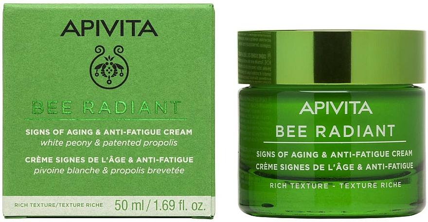 Krem przeciw starzeniu się i utracie elastyczności skóry - Apivita Bee Radiant Signs Of Aging & Anti-Fatigue Cream Rich Texture — фото N1
