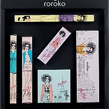 Kup Zestaw do makijażu - Roroko Natural Nude Make-up Box (eyebrow/pen 0,4 g + eyeshadow 8 g + eyeliner 0,8 g + blush 6 g + mascara 8 g + lipstick 3,5 g)